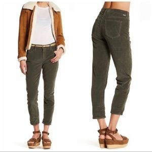 MOTHER The Dropout Olive Green Corduroy Pants 29